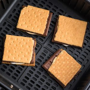 S'mores in the bottom of the air fryer basket.