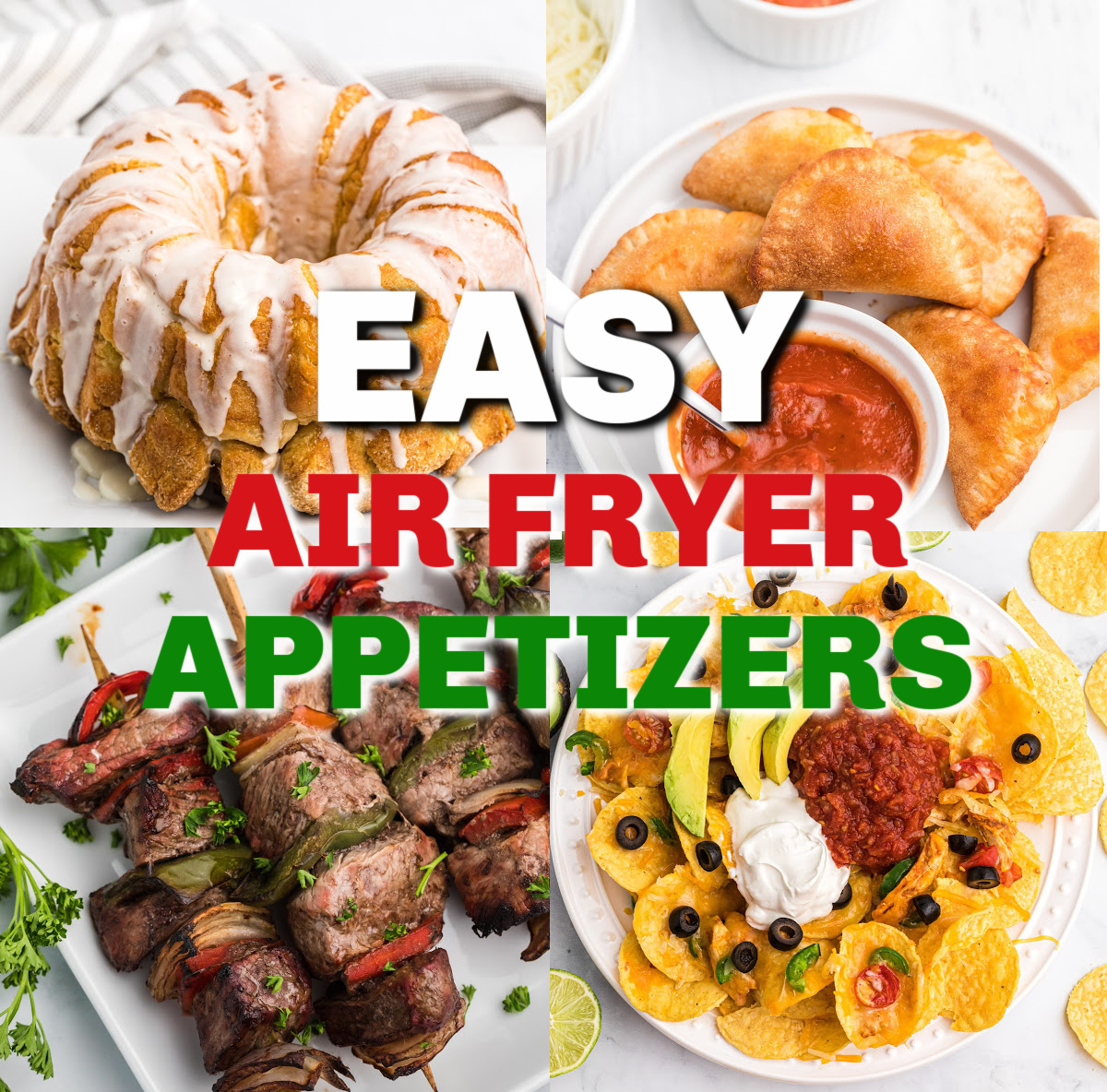 Collage of photos for Air Fryer Appetizers featured image