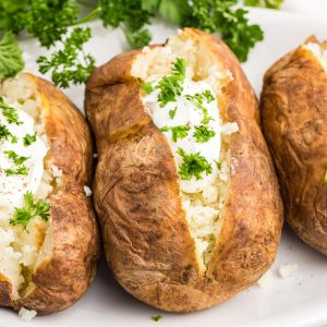 Baked potaotes made in the air fryer